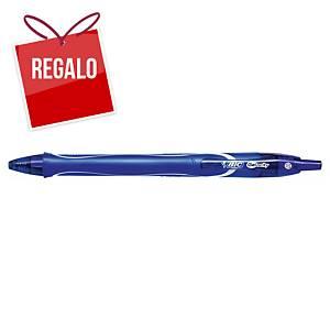 Bolígrafo retráctil de gel Bic Gelocity Quick Dry - azul