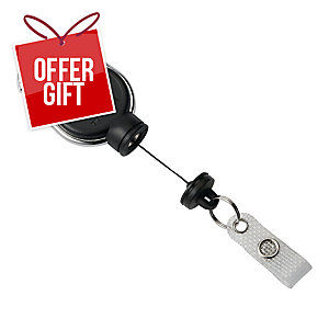 Durable Badge Reel Extra Strong Black