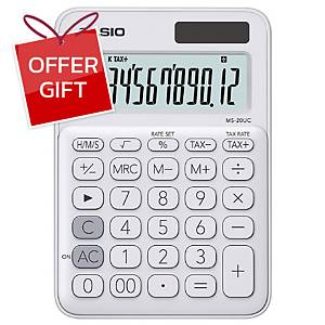 CASIO Ms-20Uc Desktop Calculator 12 Digits White