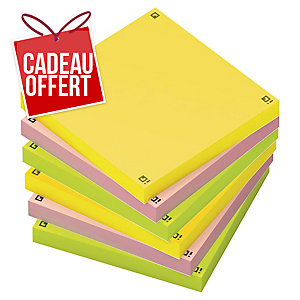 Notes repositionnables Oxford Spot Notes 75 x 75 mm - assortis - 6 x 80 feuilles