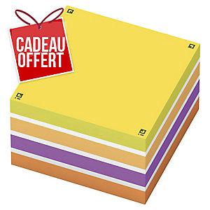 Bloc cube Oxford repositionnable 75x75 450f assorti