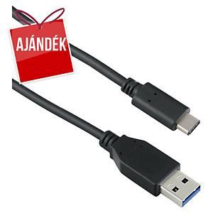Targus USB kábel, típus: C-A, 1 m, fekete