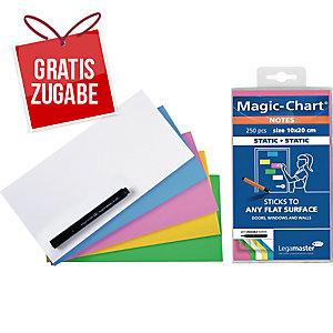 Magic Chart Notes Legamaster 159494, elektrostatisch haftend, 10x20cm sort 250St