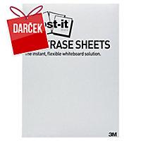 Post-it super sticky Dry Erase priľnavé biele fólie 27,9 x 39 cm