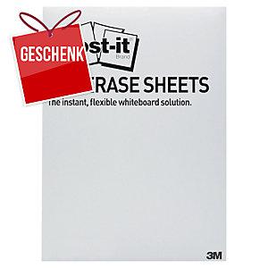 Post-it super sticky Dry Erase weiße Folien 27,9 x 39 cm