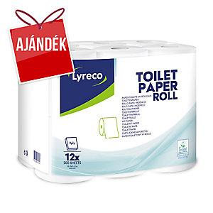 Lyreco toalettpapír, 2-rétegű, 12 darab/csomag