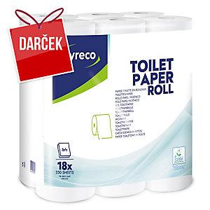 Toaletný papier Lyreco, 3 -vrstvový, balenie 18 kusov
