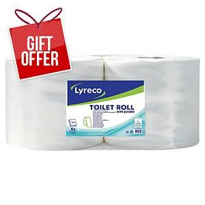 Lyreco 2 Ply Maxi Jumbo Toilet Paper 350 Meters- Pack of 6