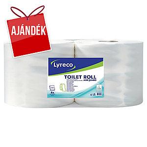 Lyreco Jumbo mini toalettpapír, 6 darab/csomag
