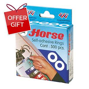 HORSE 200 REINFORCEMENT RINGS WHITE - BOX OF 500