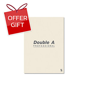DOUBLE A NOTEBOOK 70G 40 SHEETS B5 CREAM