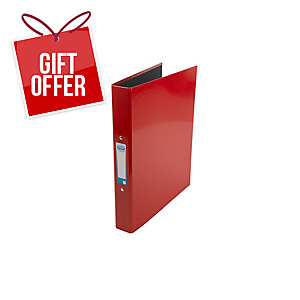 Elba Strongline Classy 2O Ring Binder A4+ Red