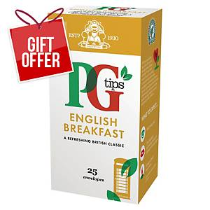 PG Tips English Breakfast Tea Bags - Box of 25