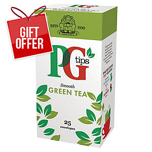 PG TIPS SMOOTH GREEN TEA BAGS - BOX OF 25