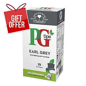 PG TIPS EARL GREY TEA BAGS - BOX OF 25