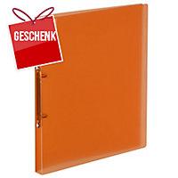 Ringbuch Kolma Easy Soft 02804 A4, 2-Ring, rot/transparent