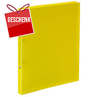 Ringbuch Kolma Easy Soft 02804 A4, 2-Ring, gelb/transparent