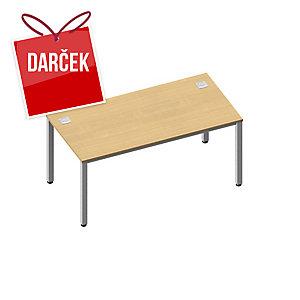 Pracovný stôl Nowy Styl Easy Space 160 x 80 x 72 cm, svetlý piesok