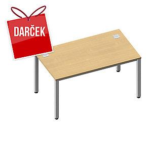 Pracovný stôl Nowy Styl Easy Space 140 x 80 x 72 cm, svetlý piesok