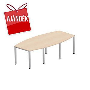 Easy Style Nowy Styl nagy konferenciaasztal, 8 láb, 240x120x72 cm, világos homok