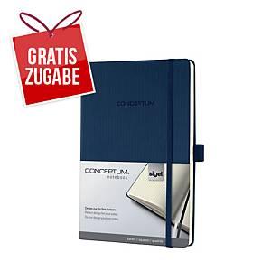 Notizbuch Sigel Conceptum CO656, A5, kariert, Hardcover, 194 Seiten, dunkelblau