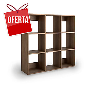 Livraria Lyreco 9 caixas com medidas 128x40x128 nogueira