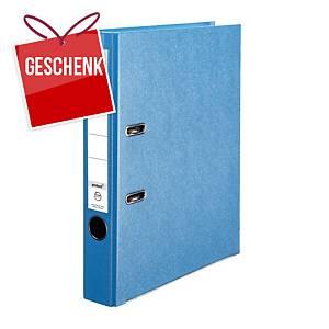 Herlitz Q.file Standardordner, Rückenbreite 5 cm, aqua