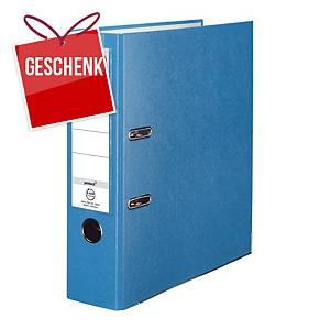Herlitz Q.file Standardordner, Rückenbreite 8 cm, aqua