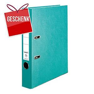 Herlitz Q.file Standardordner, Rückenbreite 5 cm, türkis