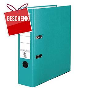 Herlitz Q.file Standardordner, Rückenbreite 8 cm, türkis