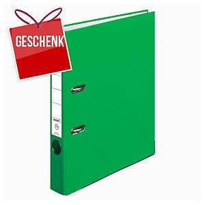Herlitz Q.file Standardordner, Rückenbreite 5 cm, hellgrün