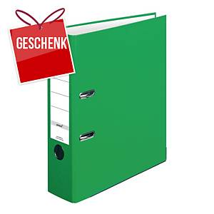Herlitz Q.file Standardordner, Rückenbreite 8 cm, hellgrün
