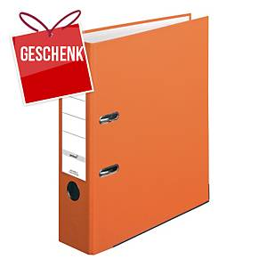 Herlitz Q.file Standardordner, Rückenbreite 8 cm, orange