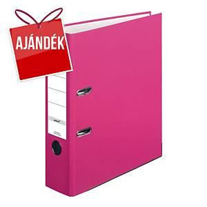 Herlitz Q.file emelőkaros iratrendező, gerincszélesség: 8 cm, szín: rózsaszín