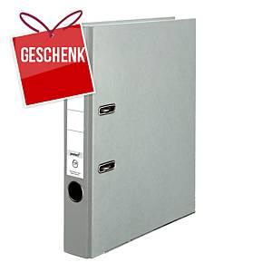 Herlitz Q.file Standardordner, Rückenbreite 5 cm, grau