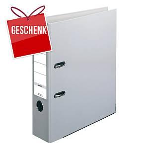Herlitz Q.file Standardordner, Rückenbreite 8 cm, grau