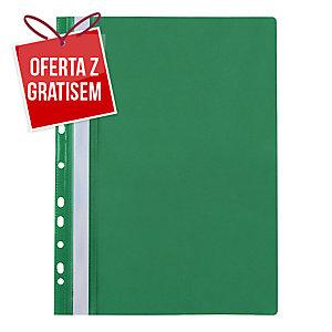 Skoroszyt wpinany miękki PP Biurfol w kolorze zielonym