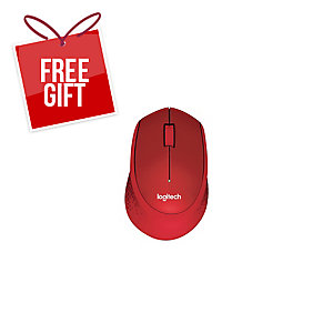 LOGITECH M331 SILENT PLUS RED WIRELESS MOUSE