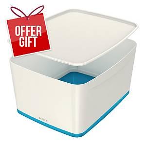 Leitz Mybox Large 18 Litre With Lid, Storage Box, Blue