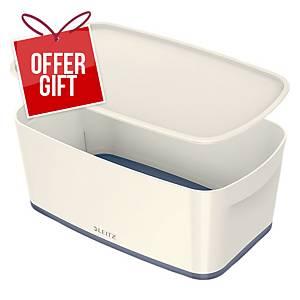 Leitz Mybox Small 5 Litre With Lid, Storage Box - Grey