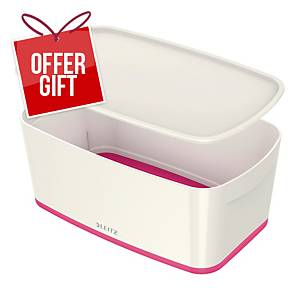 Leitz Mybox Small 5 Litre With Lid, Storage Box - Pink
