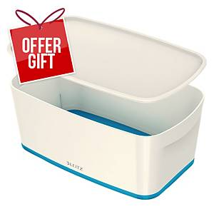Leitz Mybox Small 5 Litre With Lid, Storage Box - Blue