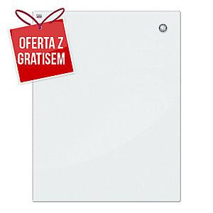 Tablica szklana magnetyczna 2x3, 80 x 60 cm, biała