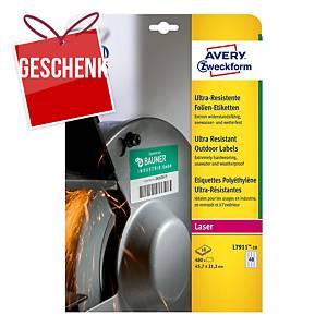 Avery Zweckform ultra-resistente Etiketten, L7911-10, 45,7 x 21,2 mm
