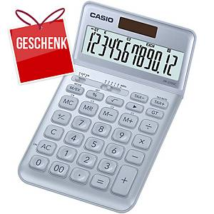 CASIO JW-200SC Taschenrechner hellblau, 12-stellig