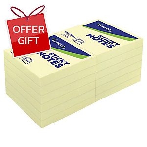 LYRECO REPOSITIONABLE NOTES 3  X3   - YELLOW 100 SHEETS
