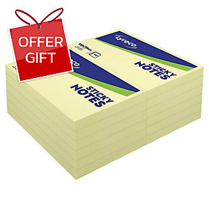 LYRECO REPOSITIONABLE NOTES 3  X5   - YELLOW 100 SHEETS