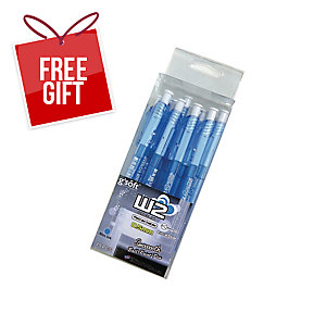 G SOFT W2 RETRACTABLE BALLPOINT BLUE PEN 0.5MM - PACK OF 15