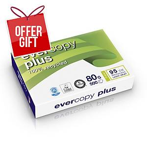 Evercopy Plus Recycled Paper A4 80 gsm White -  1 Ream of 500 Sheets