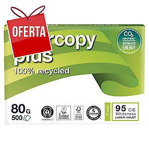 Caixa 5 pacotes 500 folhas papel EVERYCOPY PLUS A4 80g/m2 reciclado